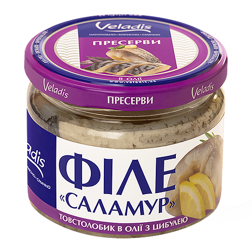 """""""Salamuri""""- Silver Carp fillet-pieces in oil with onions"""