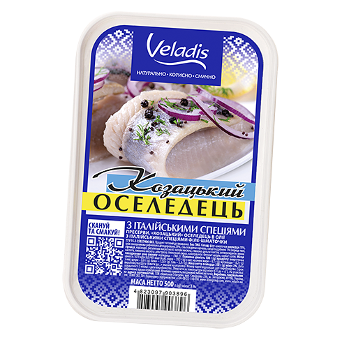"""""""Cossack"""" Herring fillet-pieces with Italian spices"""