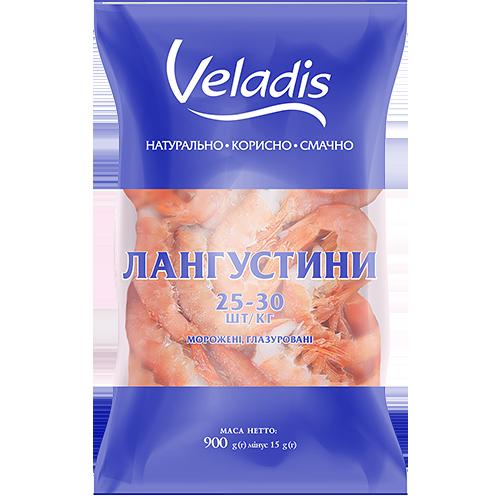 Лангустини 25-30 морожені, глазуровані