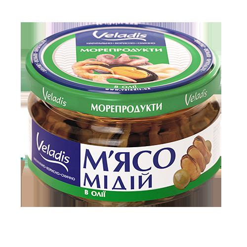 М'ясо мідій в олії