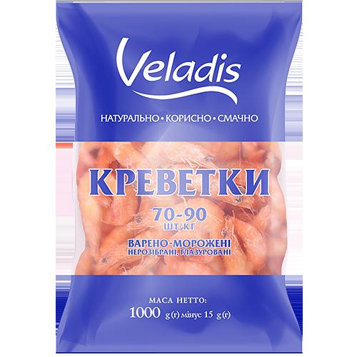 Креветки 70-90 варено-мороженные